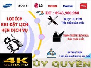 đặt lịch sửa chữa tivi 4k tại nhà